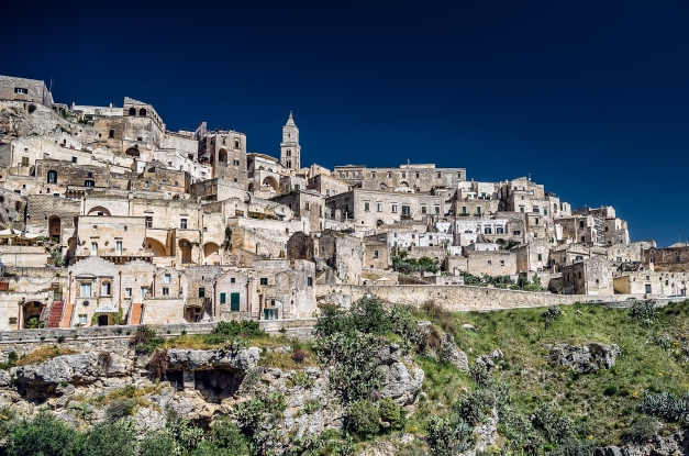 A view of Matera's Sassi